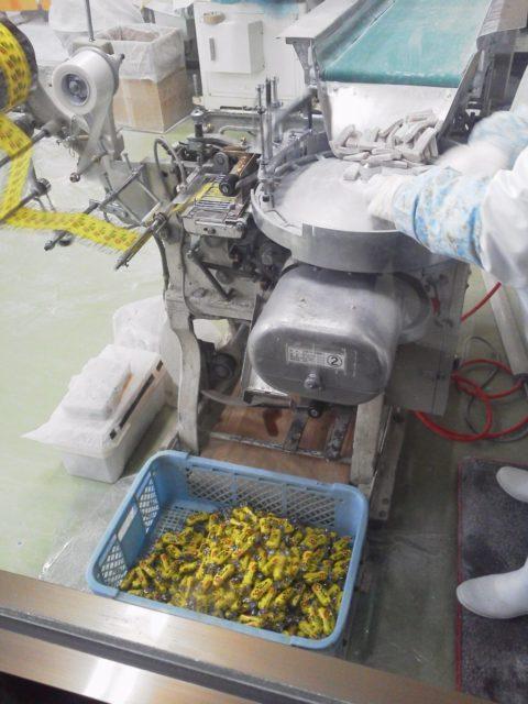 きびだんご製造工場の様子