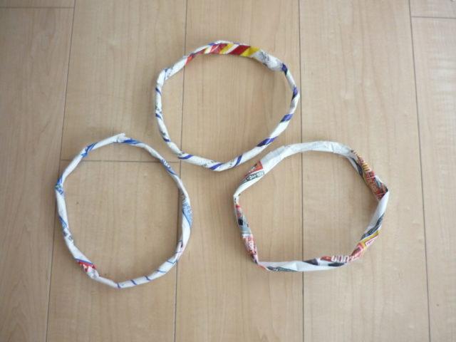 チラシで作った輪