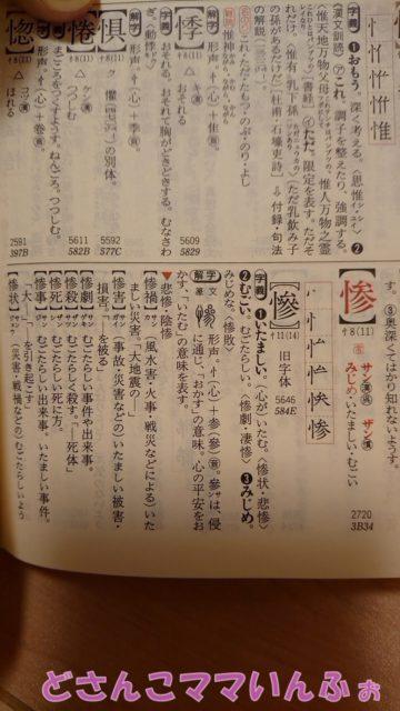 漢和辞典の惨の字の意味