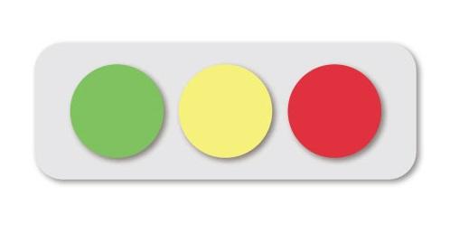 信号の色 緑・黄・赤