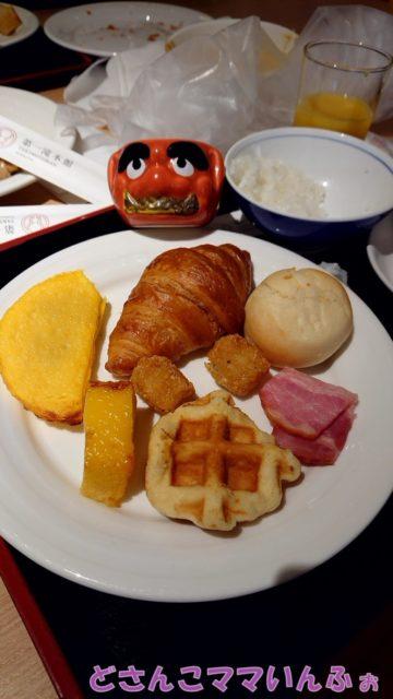 第一滝本館のビュッフェの朝食