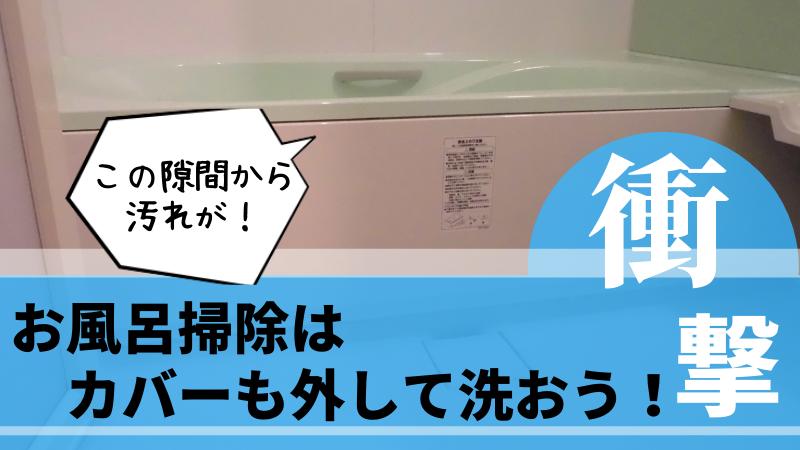お風呂掃除で浴槽エプロンの中のカビ退治!外し方と内部の衝撃写真