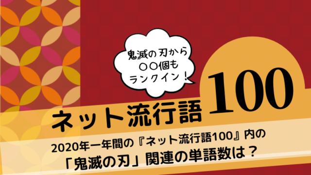 「ネット流行語100」2020で鬼滅の刃関連が〇個もランクイン!