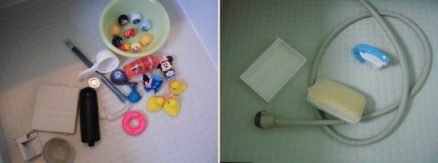 オキシクリーンでお風呂の風呂釜掃除に入れる小物