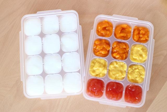 離乳食の初期の頃の冷凍保存
