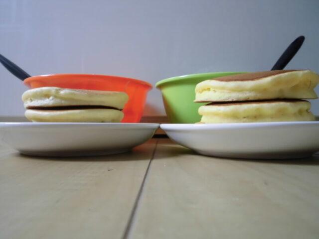 ホットケーキミックス混ぜ方が違うと焼き上がりがここまで違う