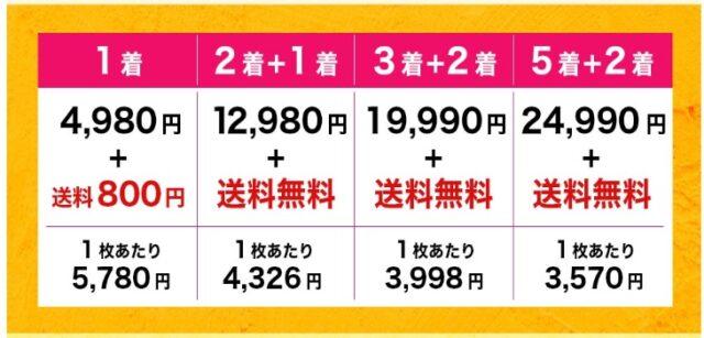 スラボディ(SULABODY)の公式の価格表